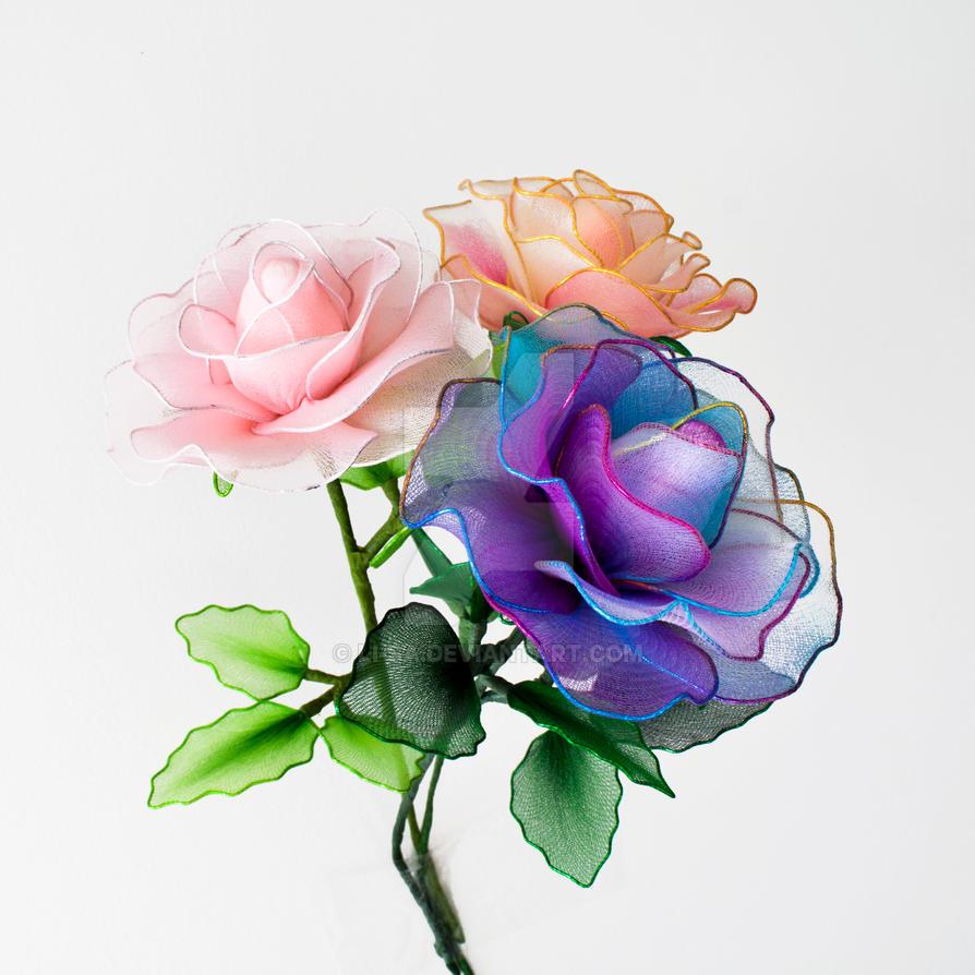 Nylon Roses by li-sa