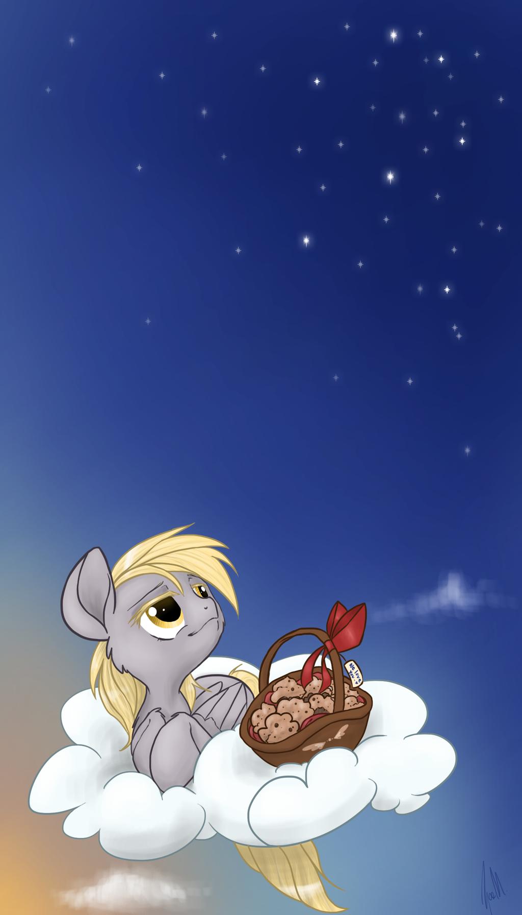 Enjoying Muffins by zoidledoidle