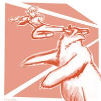 Commission - Rin vs Kuma