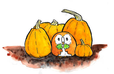 Inktober 17 - Pumpkin Patchlet by clorinspats