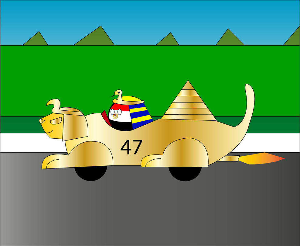 Countryball Racers: Egyptball by dykroon-chan