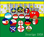 Sweden 1958 in countryballs