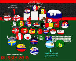 Russia 2018 In countryballs by dykroon-chan