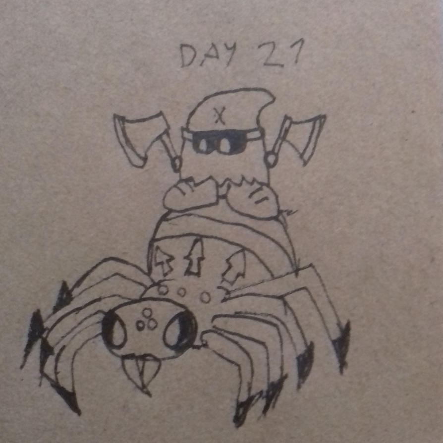 Day 21: Spider Rider Tiny Executioner by dykroon-chan