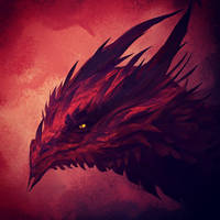 Red dragon headshot