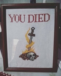 Dark Soul Bonfire Cross Stitch