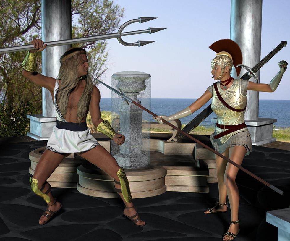 greek myths about athena and poseidon relationship