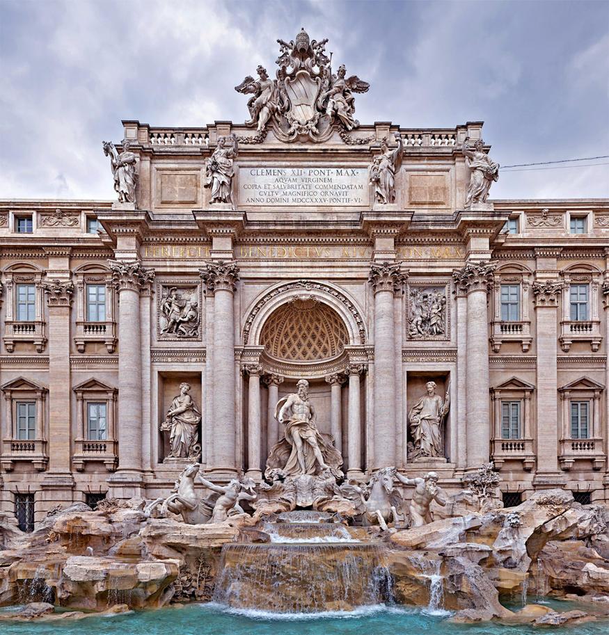 Fontana di Trevi by Luddox