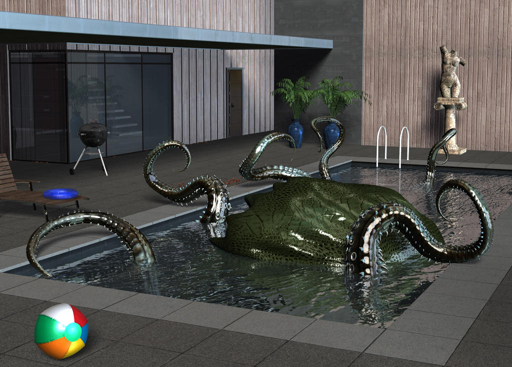 The thing in the pool by Luddox