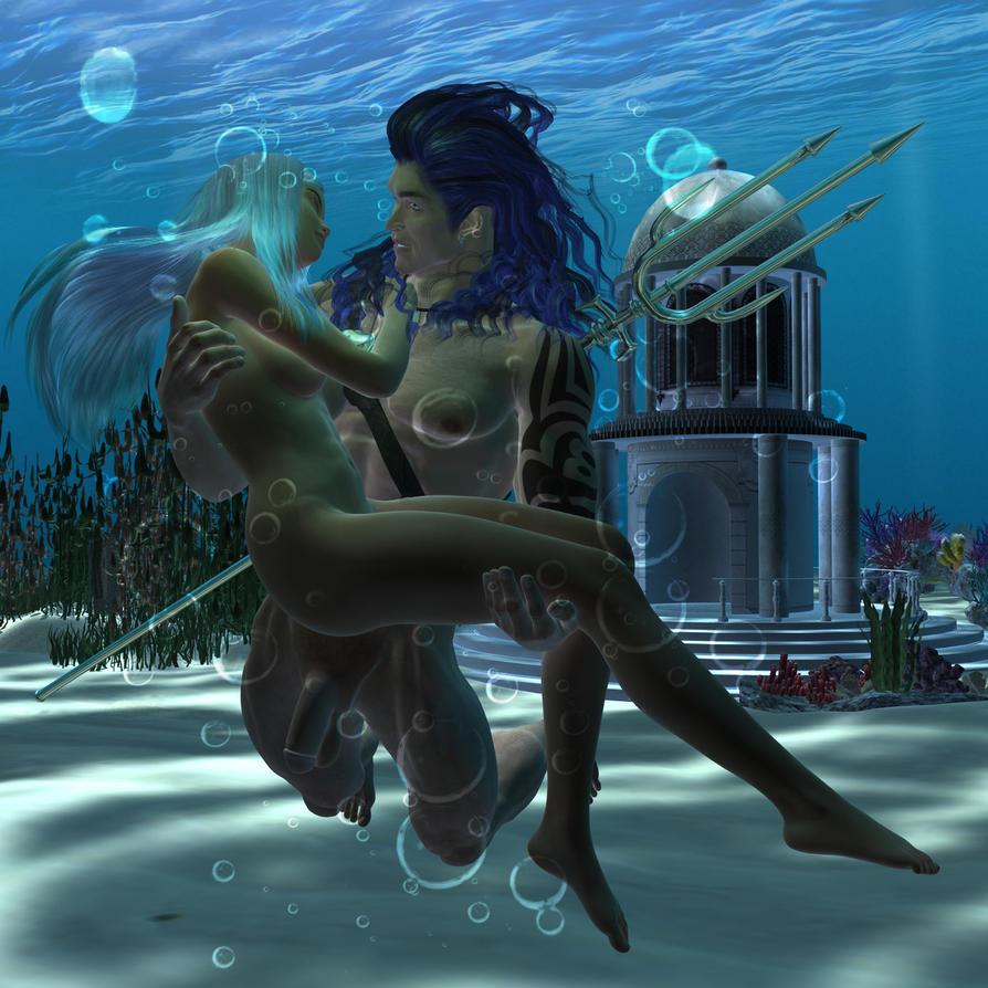 Poseidon and Amphitrite by Luddox
