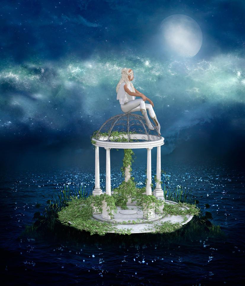 Selene - goddess of the moon by Luddox