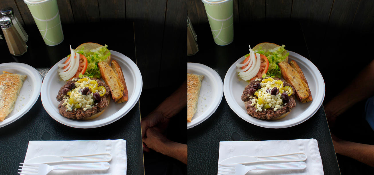 Stereograph - Greek Burger by alanbecker