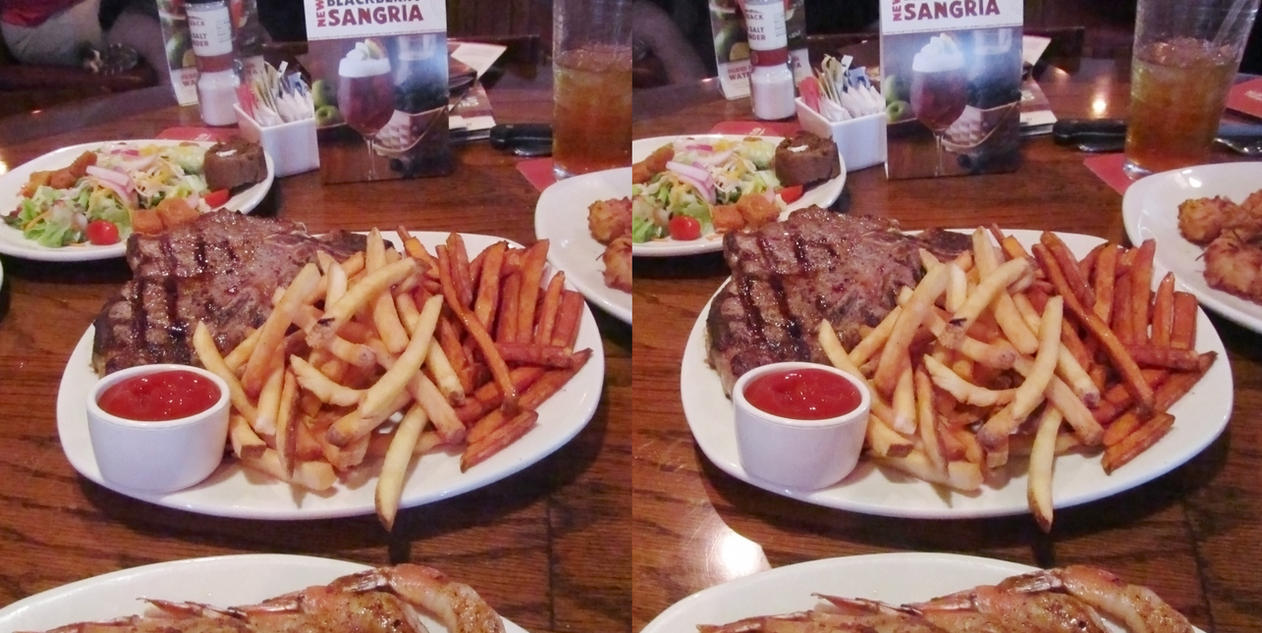 Stereograph - Steak and Fries by alanbecker