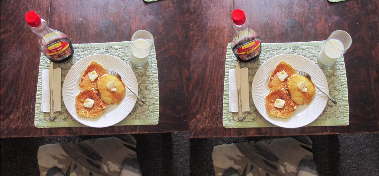 Stereograph - Pancakes by alanbecker