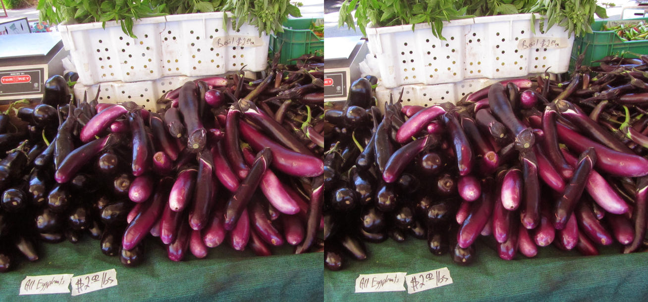 Stereograph - Eggplants by alanbecker