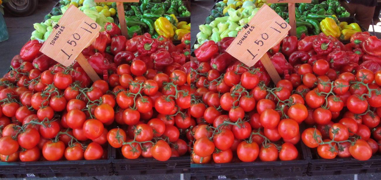 Stereograph - Tomatoes by alanbecker