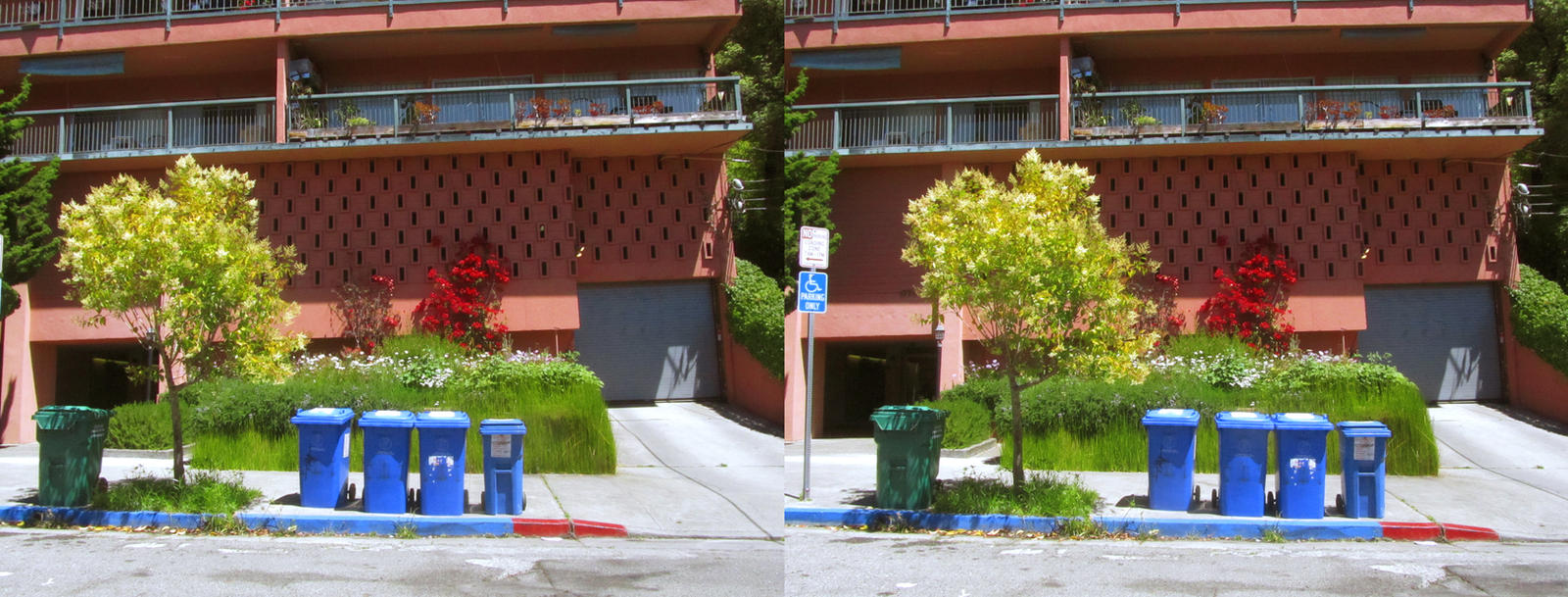 Stereograph - Recycling Bins by alanbecker