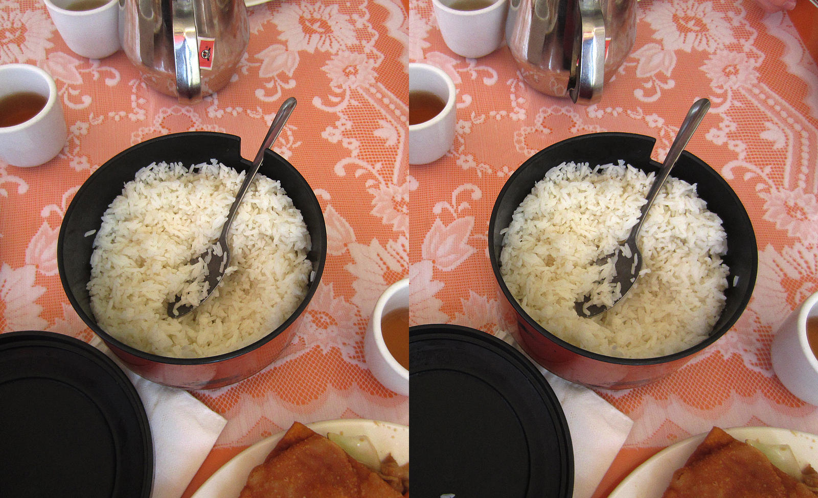 Stereograph - Steamed Rice by alanbecker