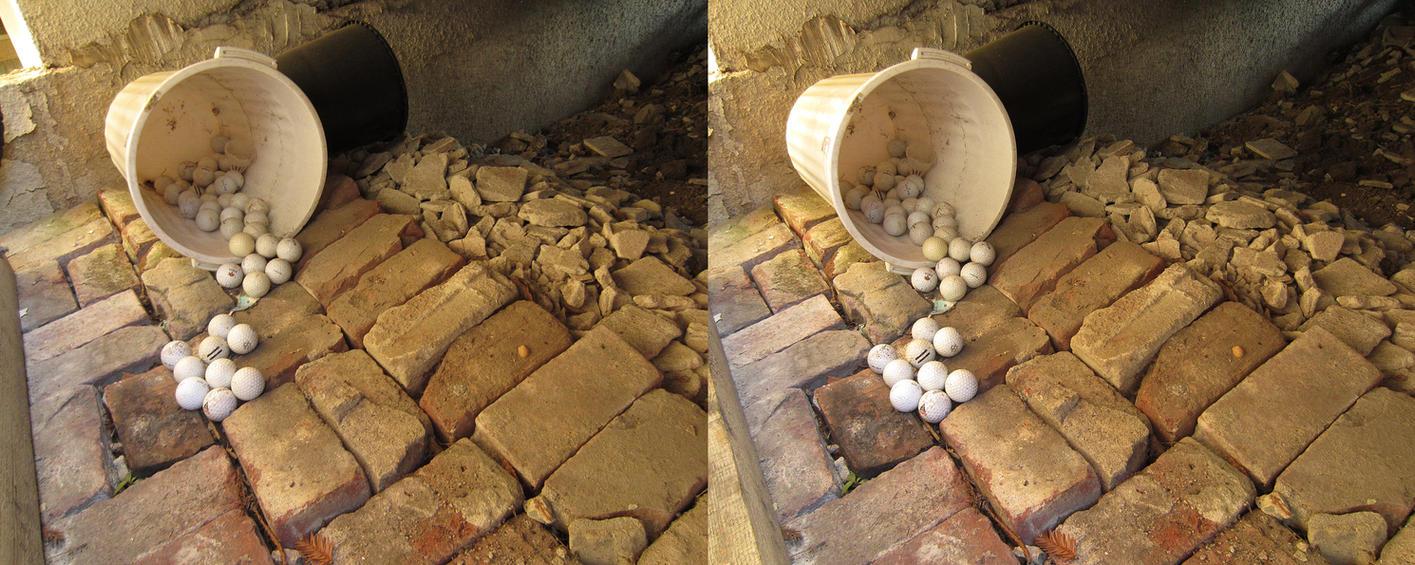 Stereograph - Golf Balls by alanbecker