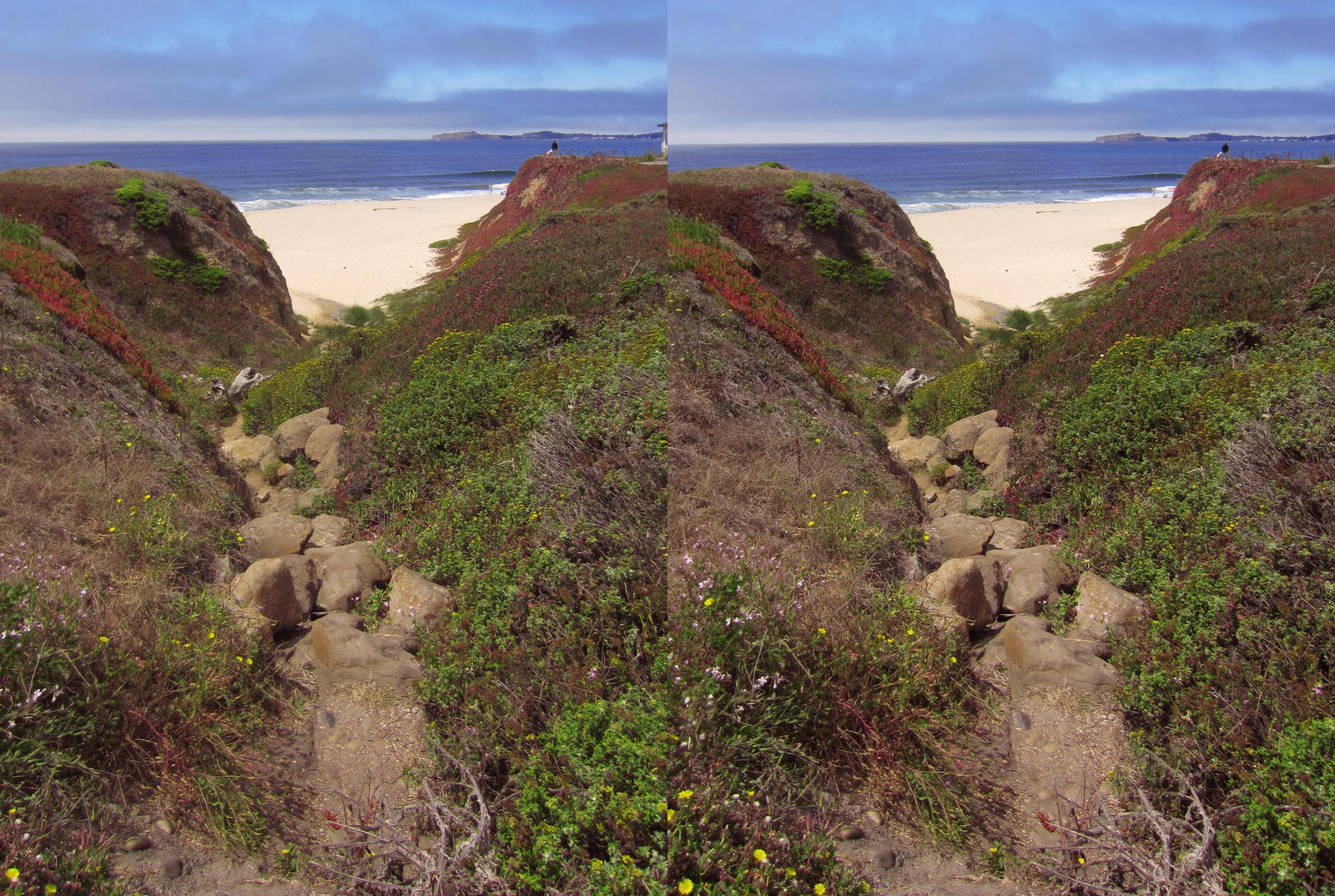 Stereograph - Beach Path by alanbecker