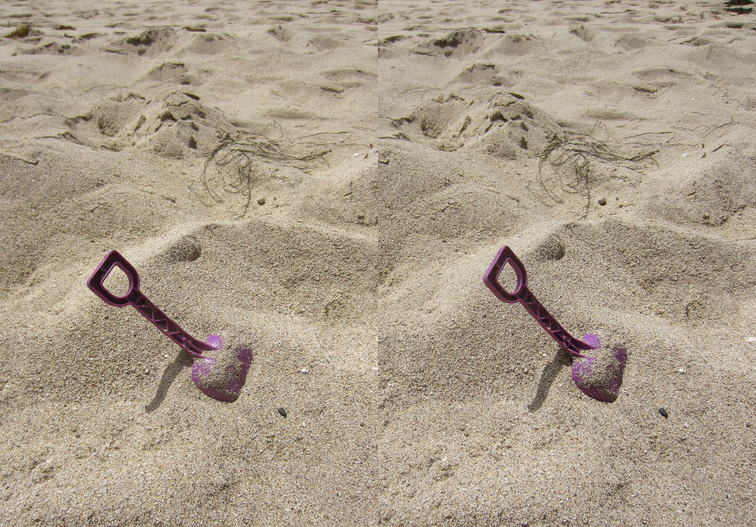 Stereograph - Shovel by alanbecker