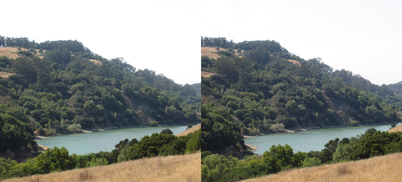 Stereograph - Lake Chabot by alanbecker