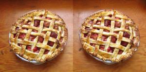 Stereograph - Strawberry Rhubarb Pie