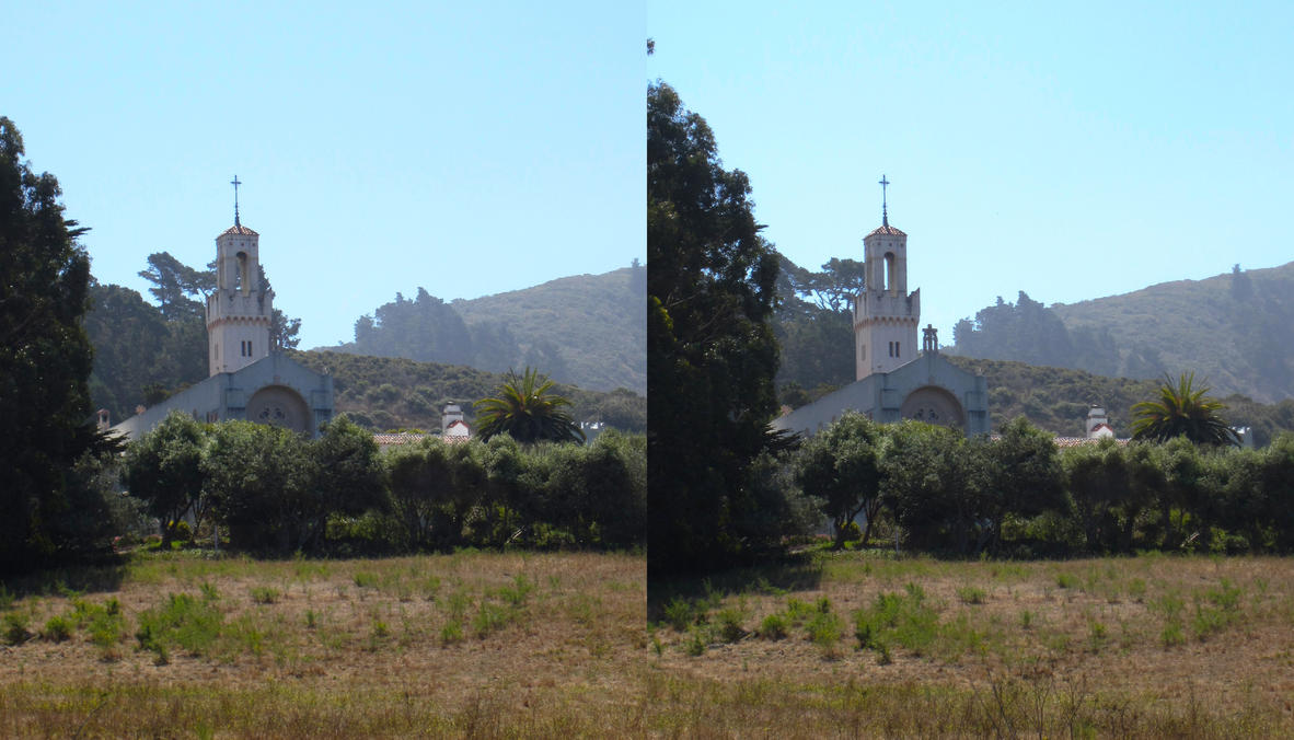 Stereograph - Mission Church by alanbecker
