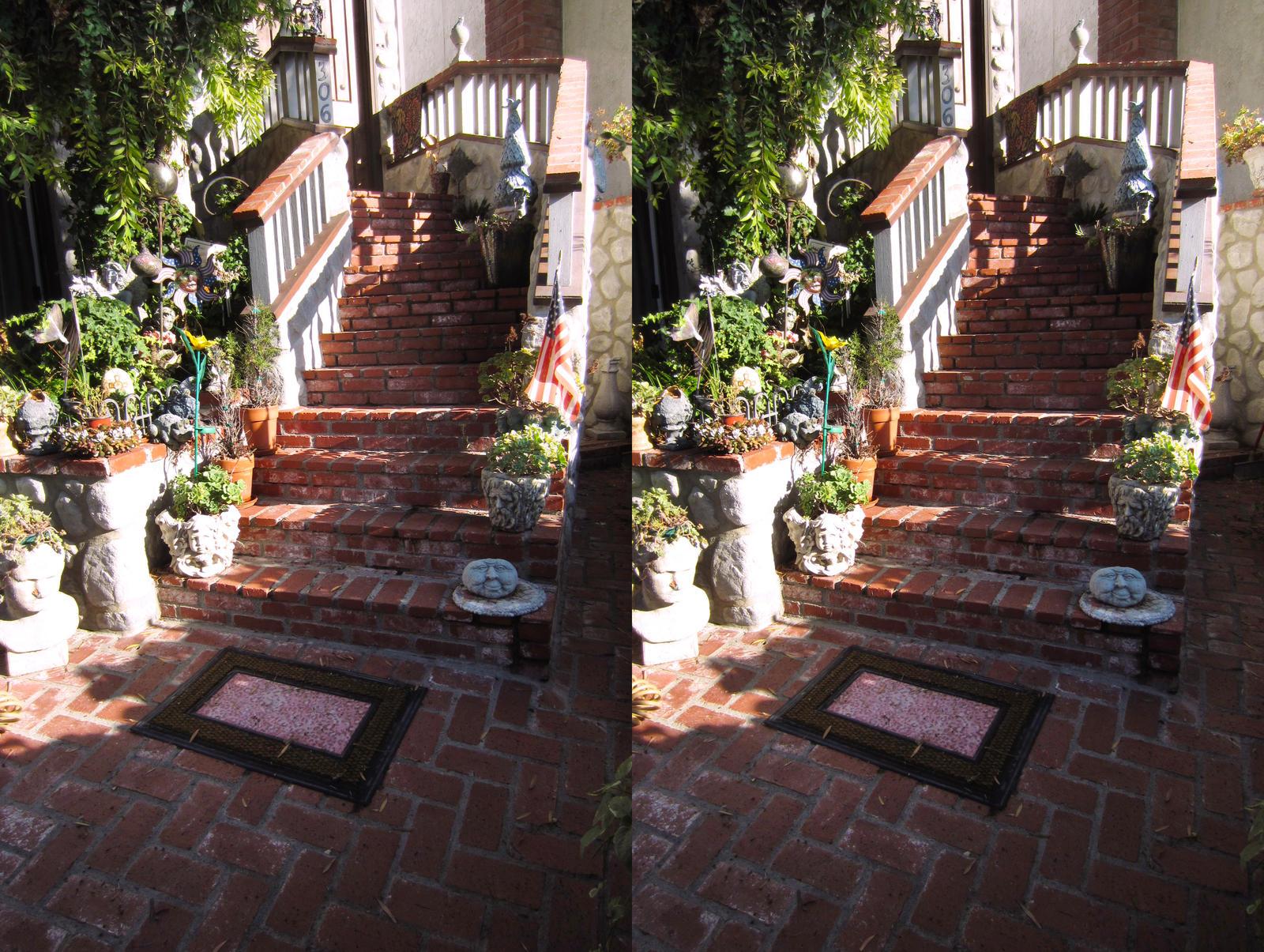 Stereograph - Brick Steps by alanbecker