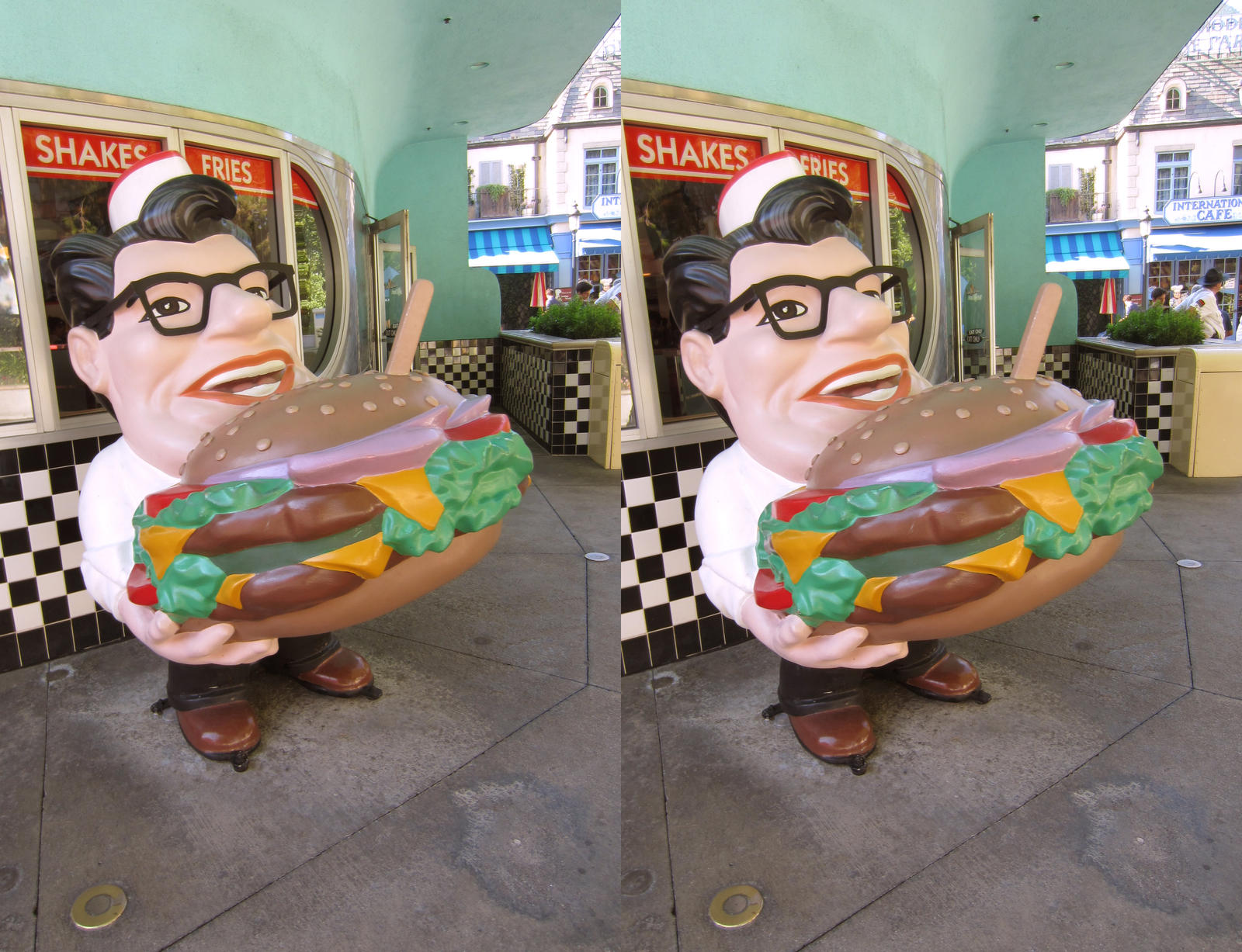 Stereograph - Deli Guy by alanbecker