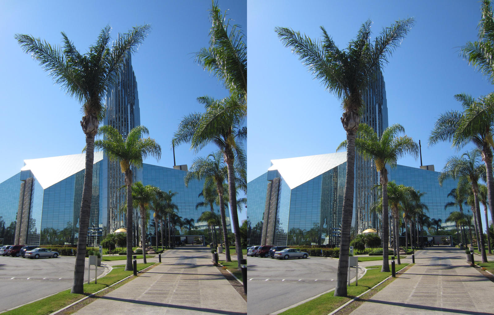 Stereograph - Crystal Cathedral Path by alanbecker
