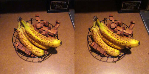 Stereograph - Banana with Puzzle