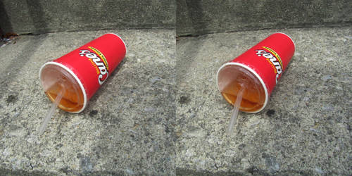 Stereograph - Raising Cane's Cup by alanbecker