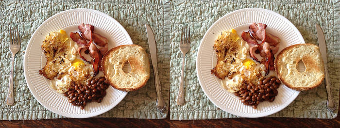 Stereograph - Baked Bean Breakfast by alanbecker