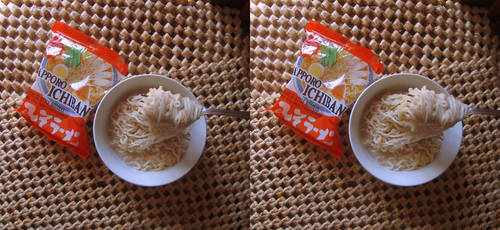 Stereograph - Sapporo Ichiban Noodles
