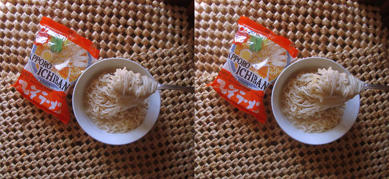 Stereograph - Sapporo Ichiban Noodles