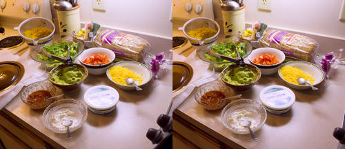 Stereograph - Taco Ingredients