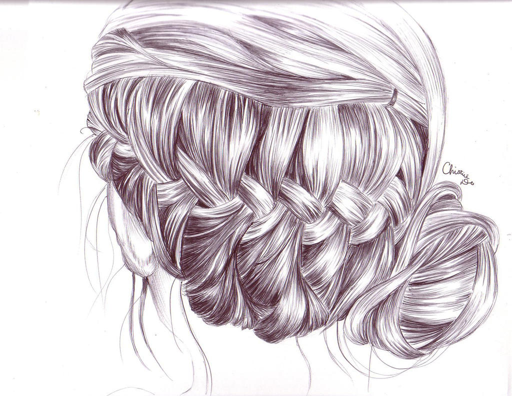 how to draw a girl with a braid