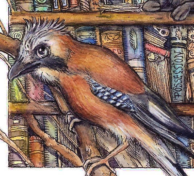 Bookish Jay by Lupuna