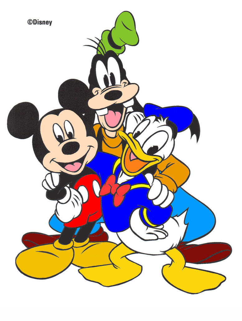 Mickey Goofy Donald Coloring Attempt By Kyoko Li On