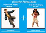 Crossover Pairing Meme: Jim Hawkins x Moana