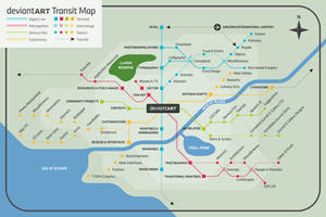My dA Transit Map