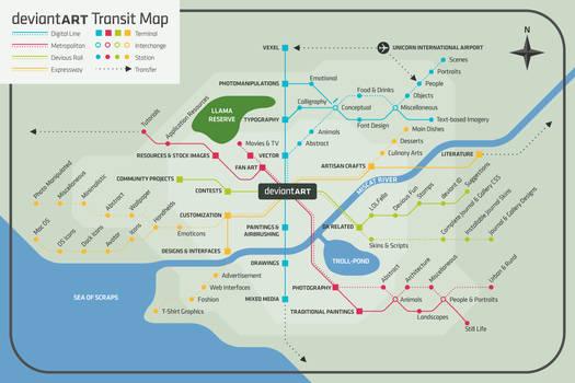 My dA Transit Map