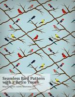 Retro-Bird-Pattern by pica-ae