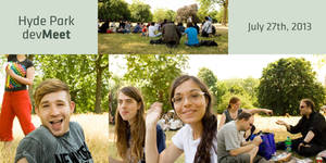 devMeet in Hyde Park, July 27th 2013 by pica-ae