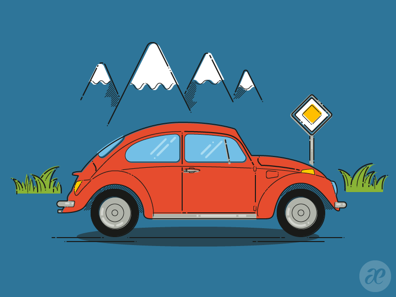 The Beetle - Print by pica-ae