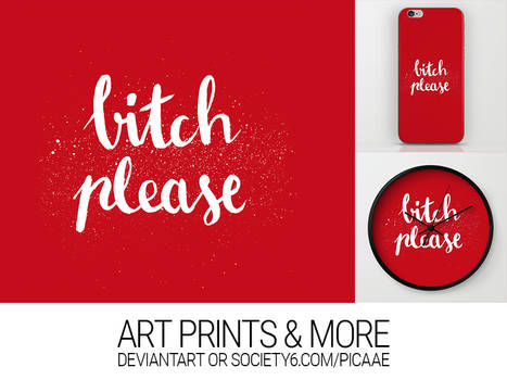 Bitch Please - Now as Print!