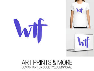 wtf II - Art Print by pica-ae