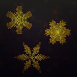 Art Deco Snowflakes by pica-ae