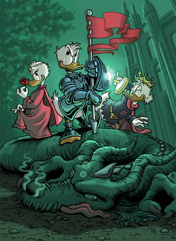 Donald defeating the Dragon by DiegoBernardo